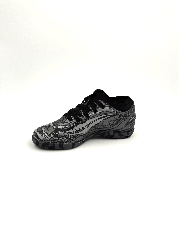 c91371725f Chuteira Futsal Penalty Infantil Tigre Locker Chumbo - Conceito M