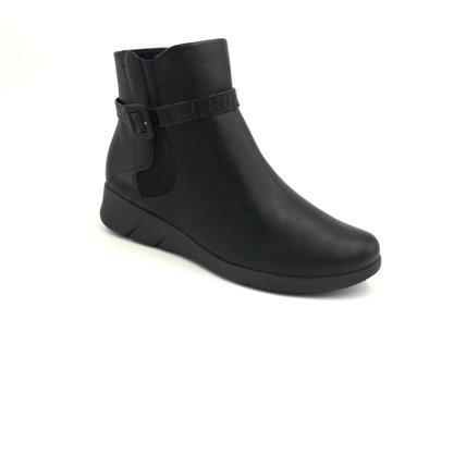 Bota Comfortflex Preta Cano Curto Ankle Boot 1989303