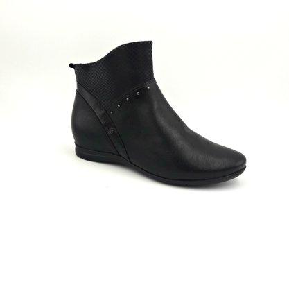Bota Comfortflex Preta Cano Curto Ankle Boot 1991301