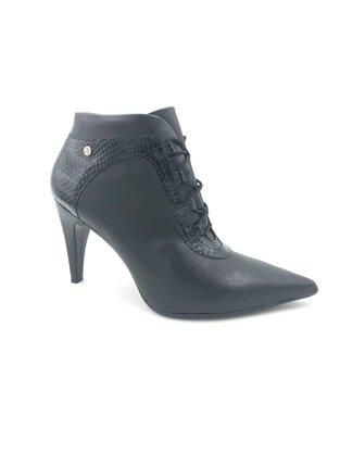 Bota Piccadilly Ankle Boot Preta Salto Alto 749024