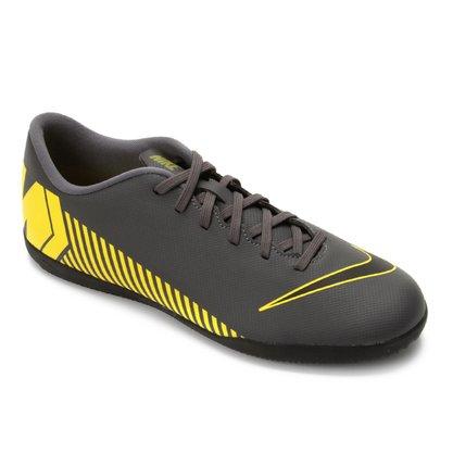 Chuteira de Futsal Nike Mercurial Vapor 12 Club Cinza