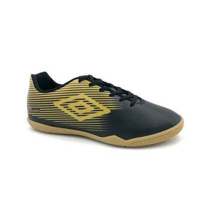 Chuteira Futsal Indoor Umbro F5 Light Preto/Dourado
