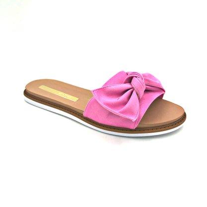 Rasteira Moleca Slide Pink Com Laço 5443105