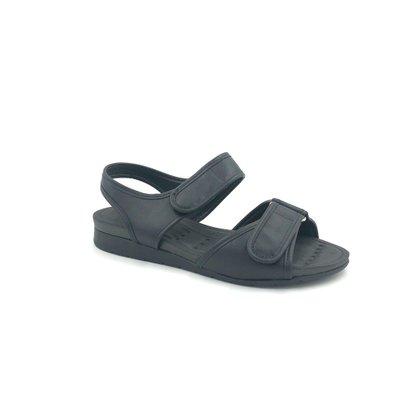 Sandália Modare Conforto Preta Papete Tiras Ajustáveis