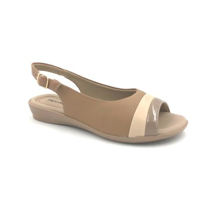 Sandália Piccadilly Anabela Natural Conforto 500238