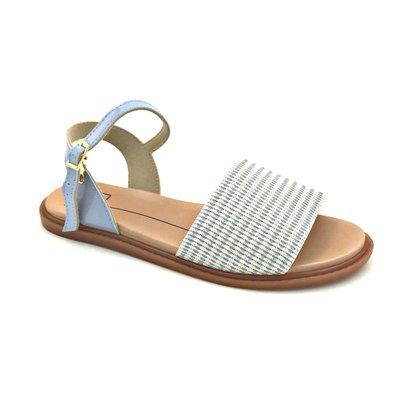 Sandália Rasteira Moleca Jeans Anatômica 5450100