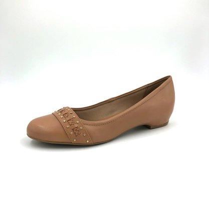 Sapato Bottero Couro Natural Amêndoa Bico Redondo