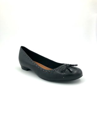 Sapato Bottero Couro Natural Preto Bico Redondo 304301