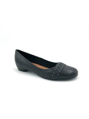 Sapato Bottero Couro Natural Preto Bico Redondo 304304