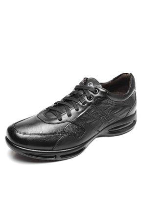 Sapato Democrata Couro Preto Cadarço Air Full114103