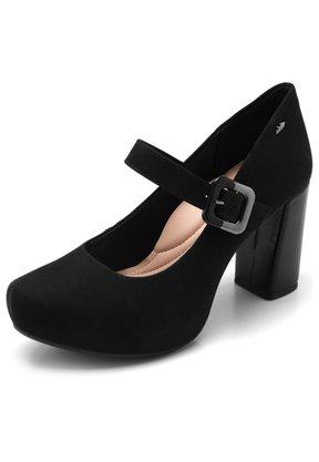 Sapato Dakota Boneca Meia Pata Preto Salto Grosso 1112
