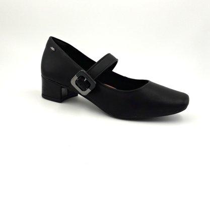 Sapato Dakota Preto Boneca Salto Baixo Fivela G1082