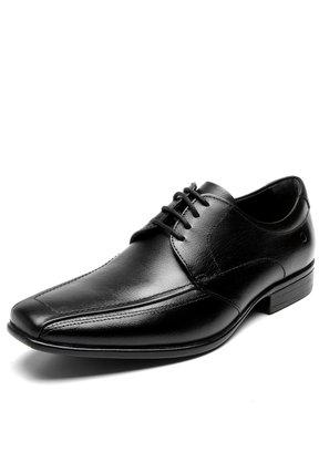 Sapato Democrata Social Couro Preto Cadarço 434021