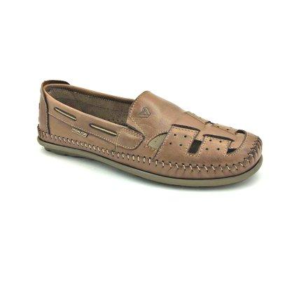Sapato Mocassim Vudalfor Couro Natural Brown 3350