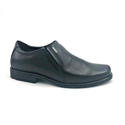 Sapato Pegada Couro Natural Preto 122101 Forma Larga