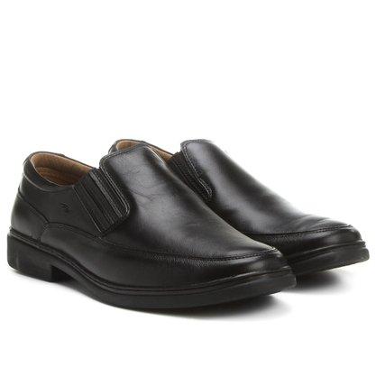 Sapato Rafarillo Preto Conforto Couro 9602