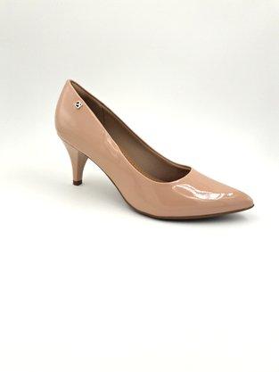 Sapato Scarpin Piccadilly Rosê Verniz Bico Fino