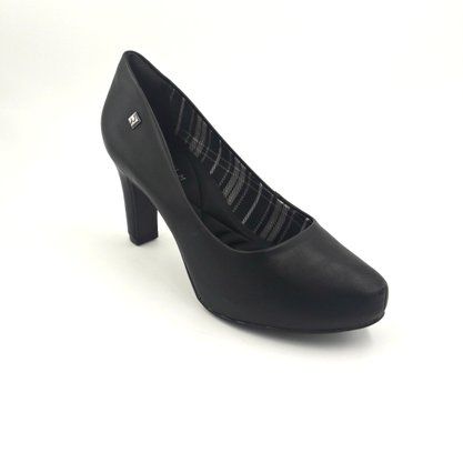 Sapato Scarpin Preto Ramarim Meia Pata 1998102