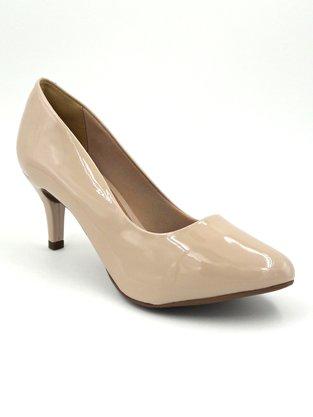 Sapato Scarpin Verniz Bege Renata Mello 7494.55210