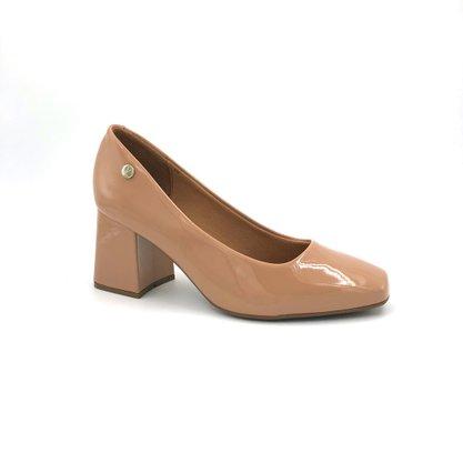 Sapato Scarpin Vizzano Verniz Nude Salto Grosso
