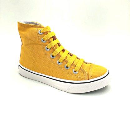 Tênis Abotinado Capricho Amarelo Canvas CP0655
