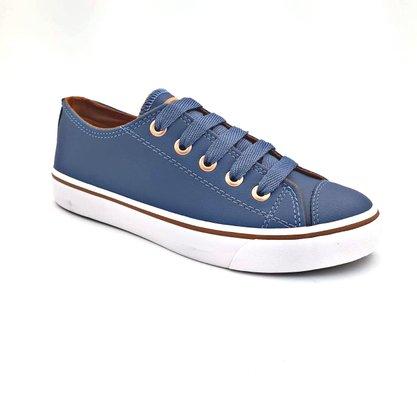 Tênis Capricho Feminino Azul Anil Like Class 0542