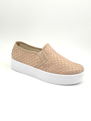 Tênis Slip On Flatform Tressê Nude Shoes 6001