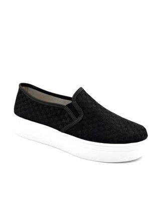 Tênis Slip On Flatform Tressê Preto Shoes 6001