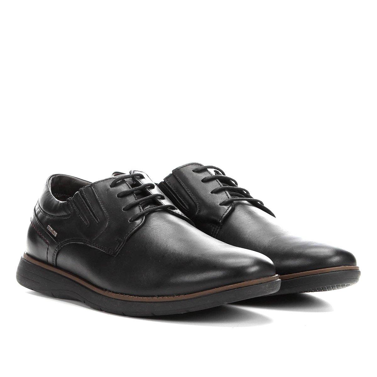 7fad05f5a Sapato Ferracini Preto Couro Casual Cadarço Trindade - Conceito M